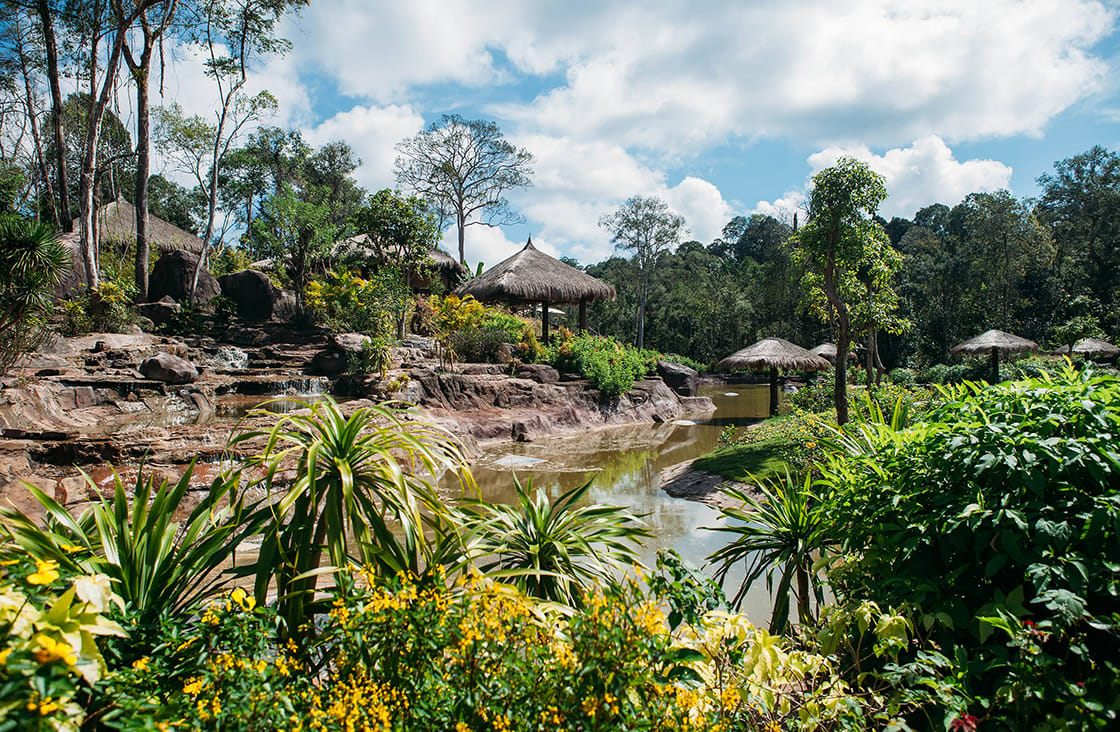 Jungle,Landscape,With,Flowing,Water,At,Deep,Tropical,Rain,Forest.