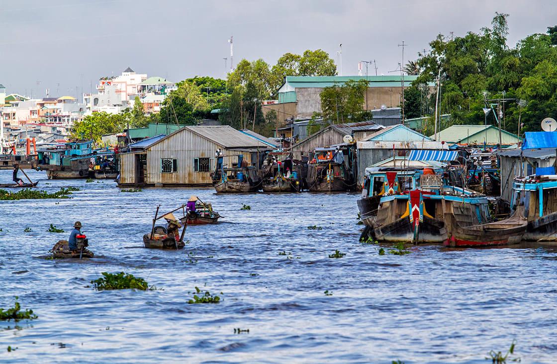 Mekong,River,-,Near,Chau,Doc,-,Vietnam