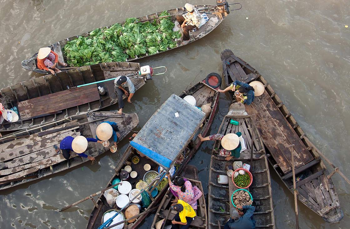 Mekong,Floating,Market