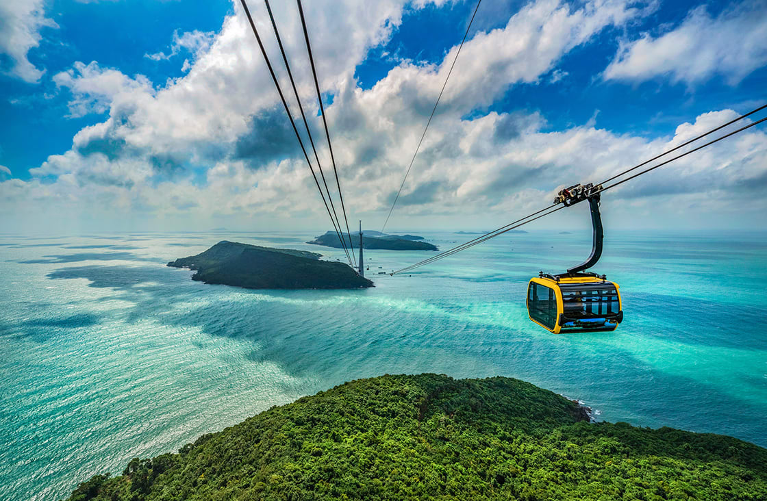 Aerial,View,Of,Thom,Island,Cable,Car,Is,The,Famous