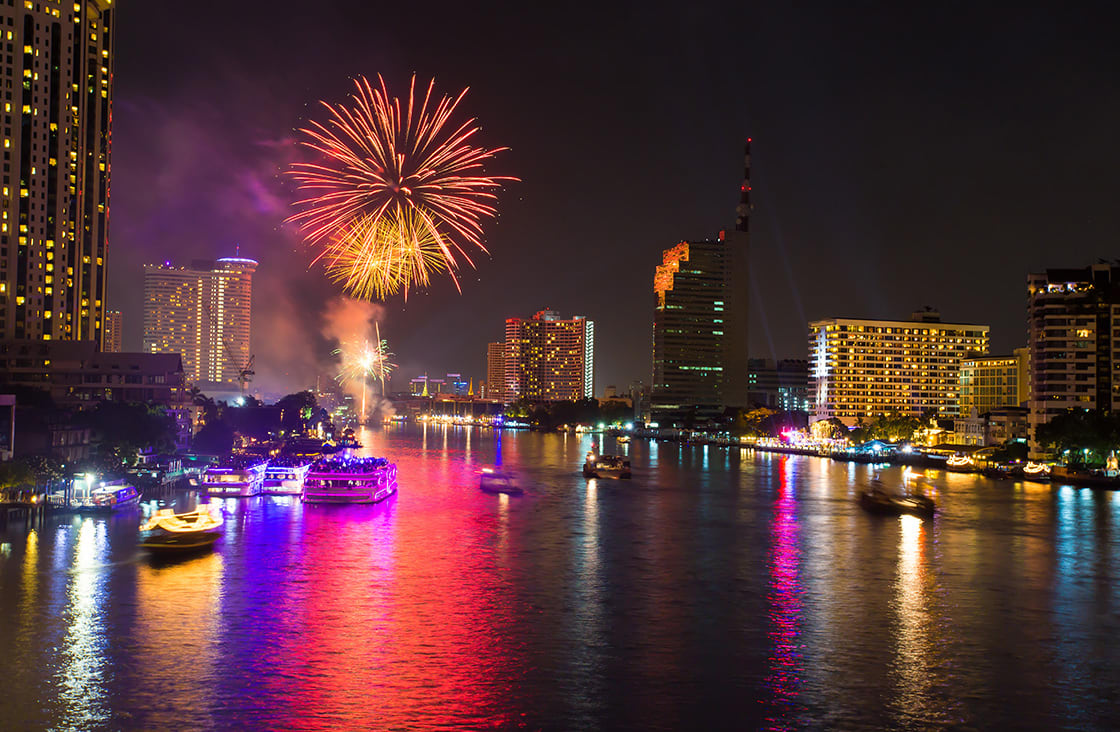 Firework,At,Chao,Phraya,River,In,Countdown,Celebration,Party,2016Firework,At,Chao,Phraya,River New Year Celebration,