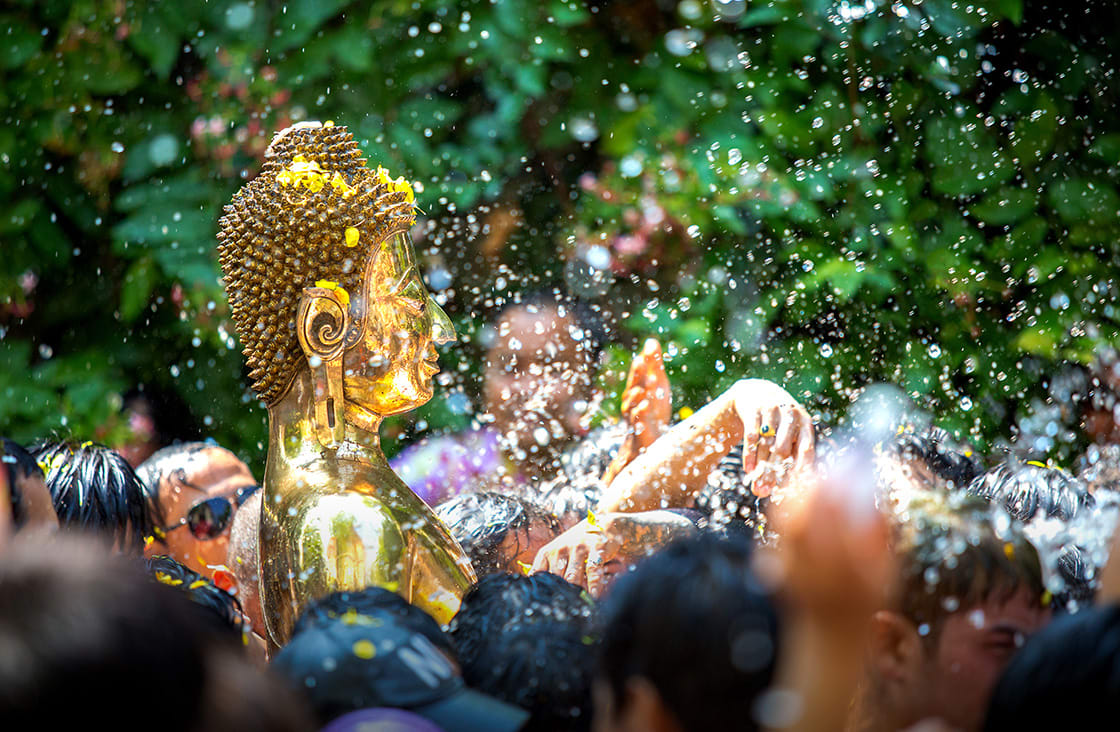 Buddha,Statue songkran ceremony