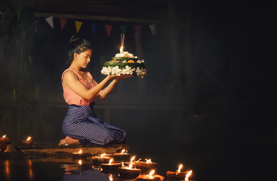 Loy,Krathong,Traditional,Festival