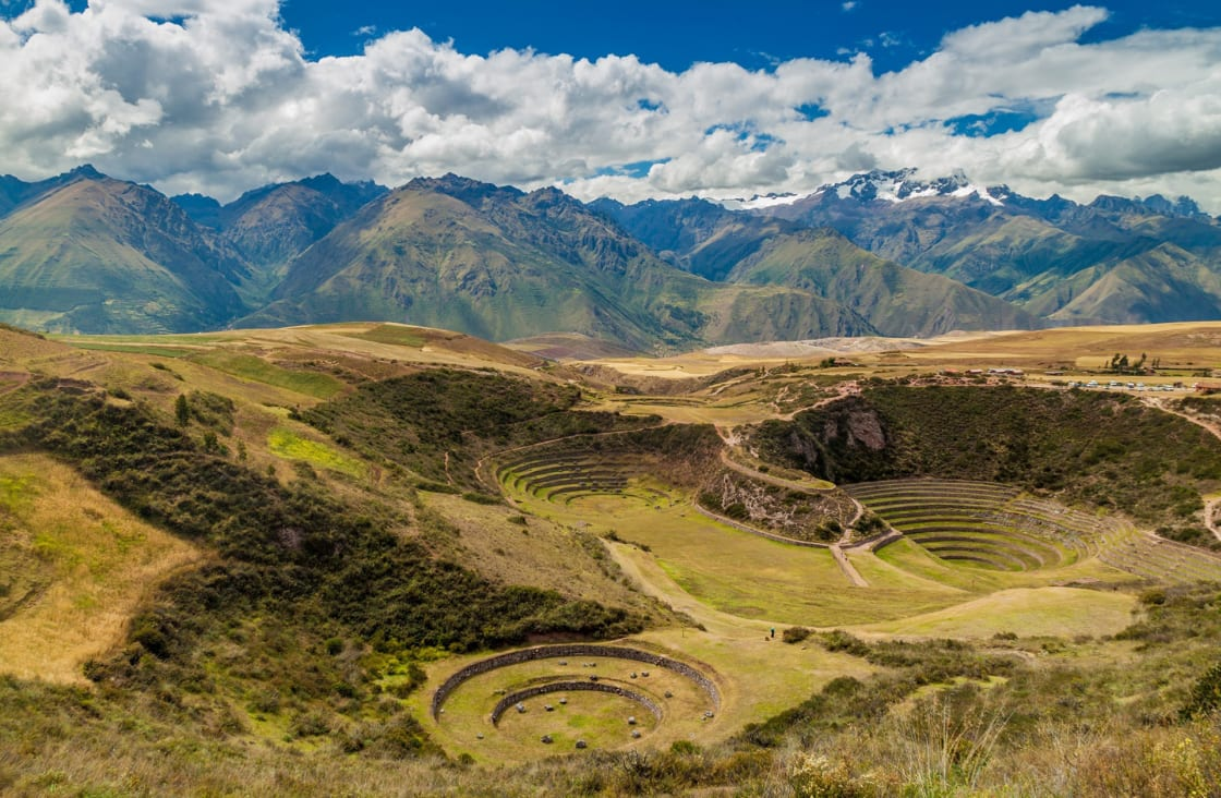 Round Agricultural Terraces In Moray, Sacred Valley
