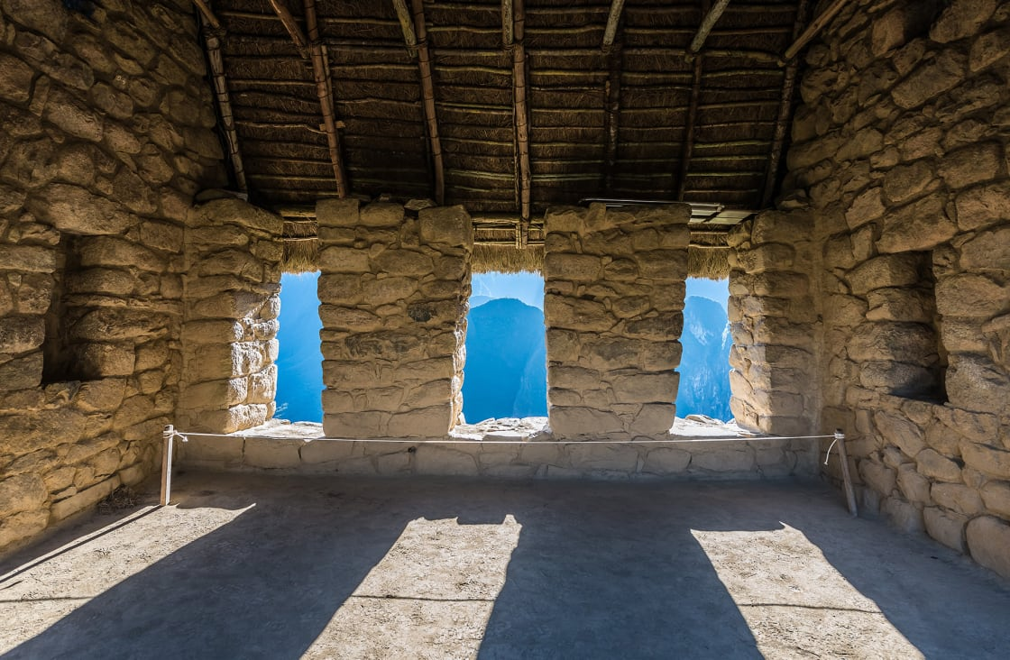 Interior Of The House Of The Guardians, Machu Picchu