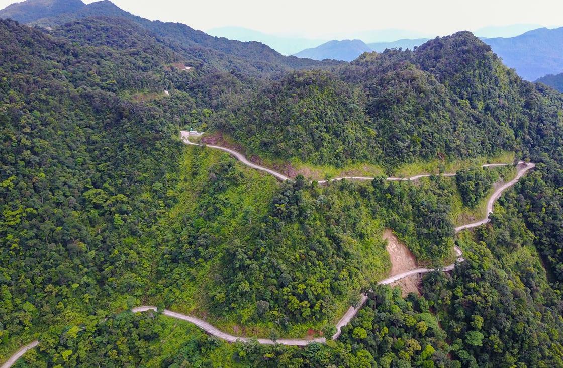 Hard,Road,On,Mountain,,Bach,Ma,National,Park,,Vietnam