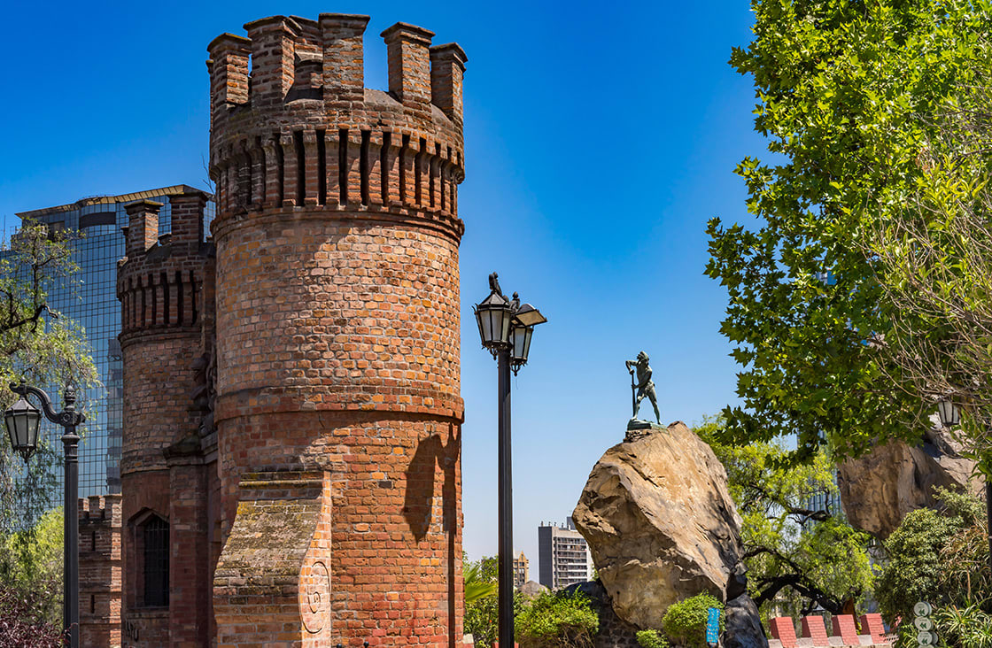 Castillo,Hidalgo,Castle,Top,Saint,Lucia,Hill,Santiago,Chile,Castle