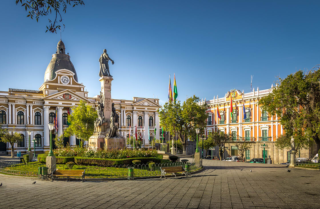 Plaza,Murillo,And,Bolivian,Palace,Of,Government,-,La,Paz,