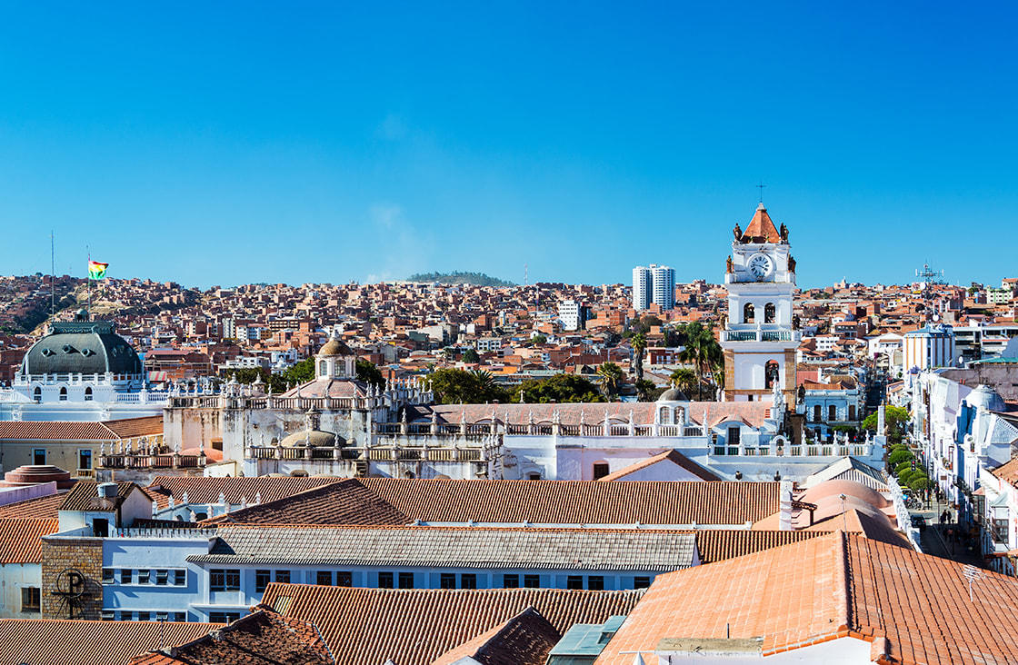 Sucre, panoramic view