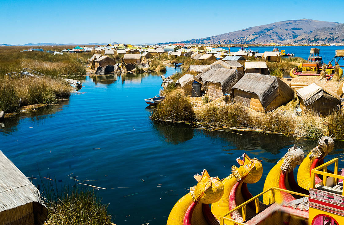 View of Uros Floating Islands