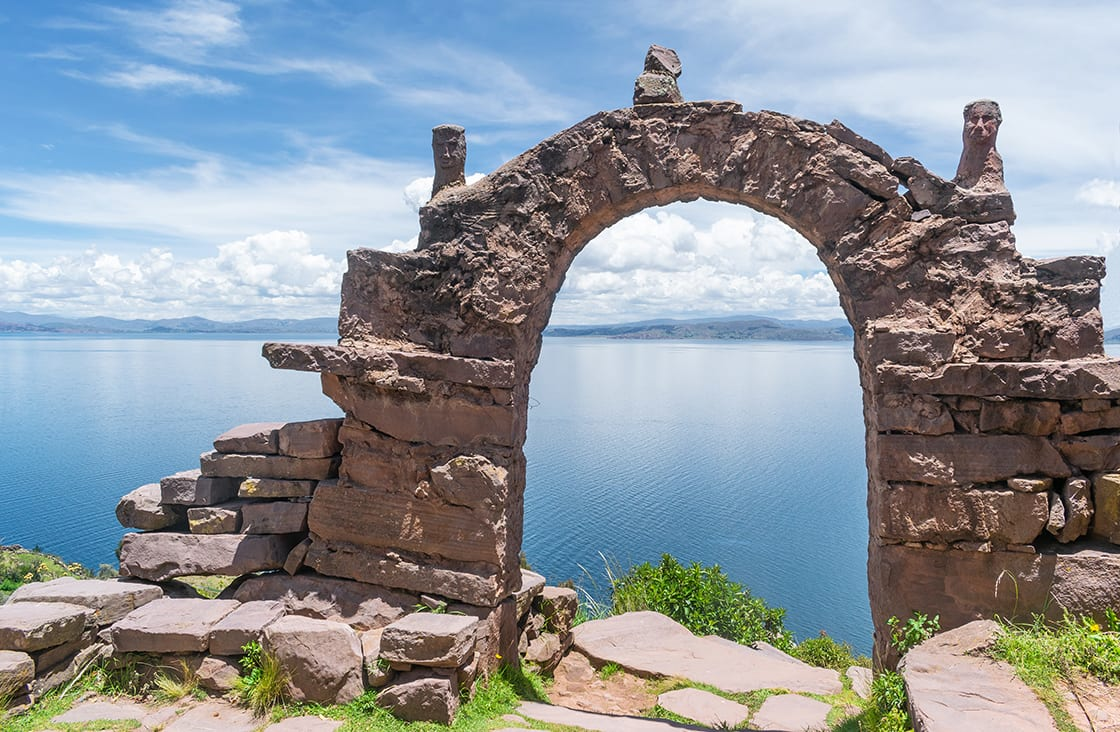One,Of,The,Arches,Of,The,Taquile,Island,Located,On