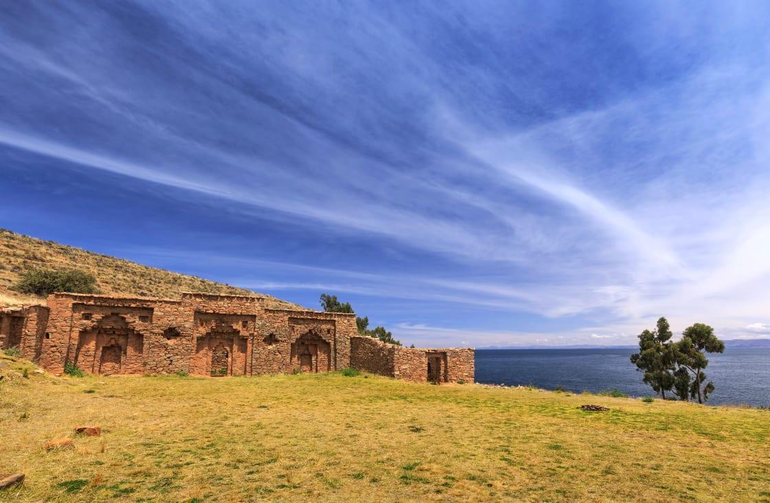 Island,Of,The,Moon,(isla,De,La,Luna),,Lake,Titicaca,