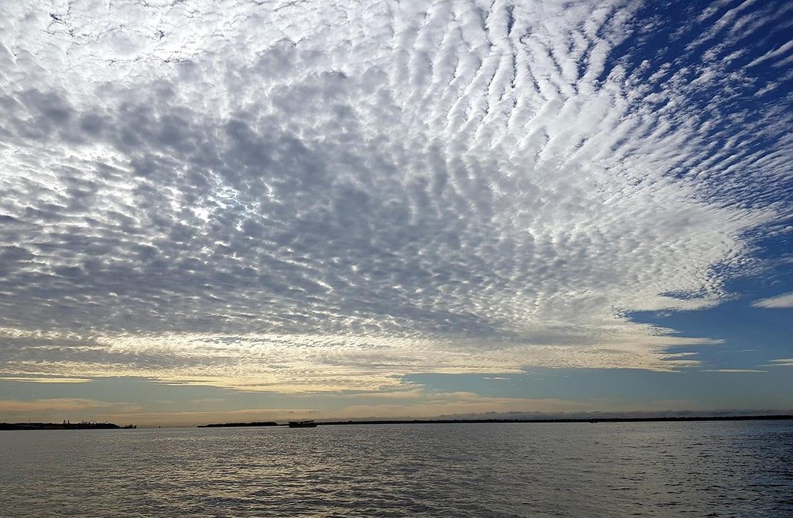 Cumulus clouds, Rio Negro, Manaus