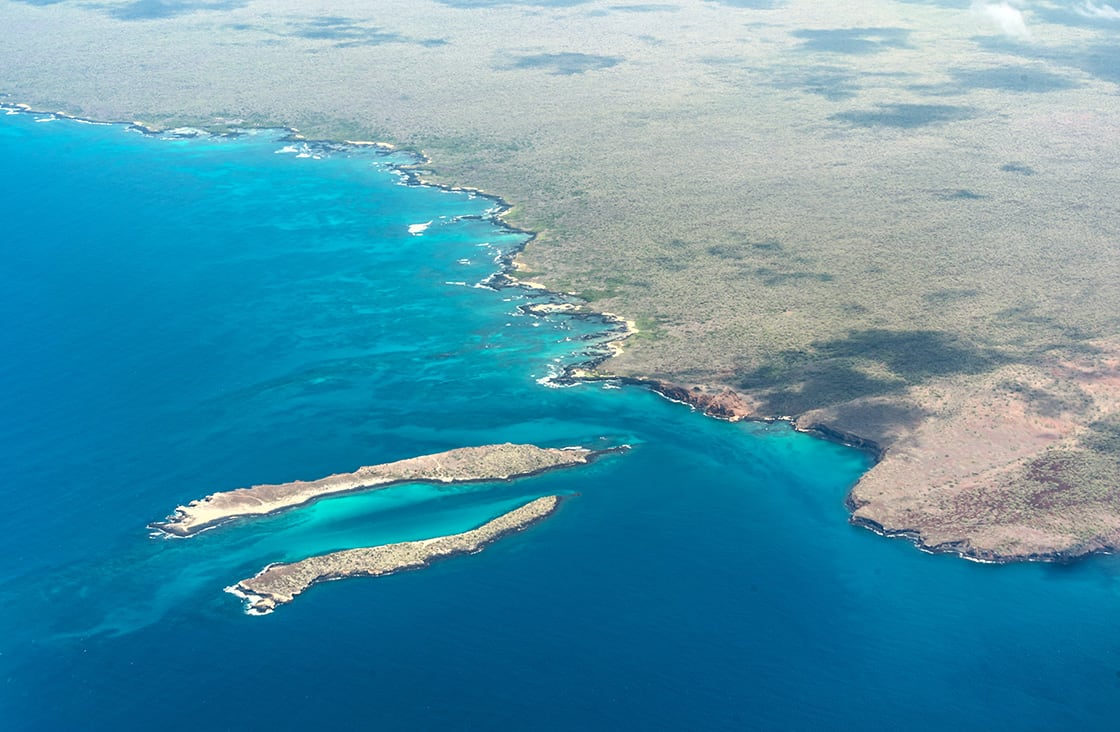 View,Of,The,Island,Of,Baltra,And,North,Seymour.,Galapagos.