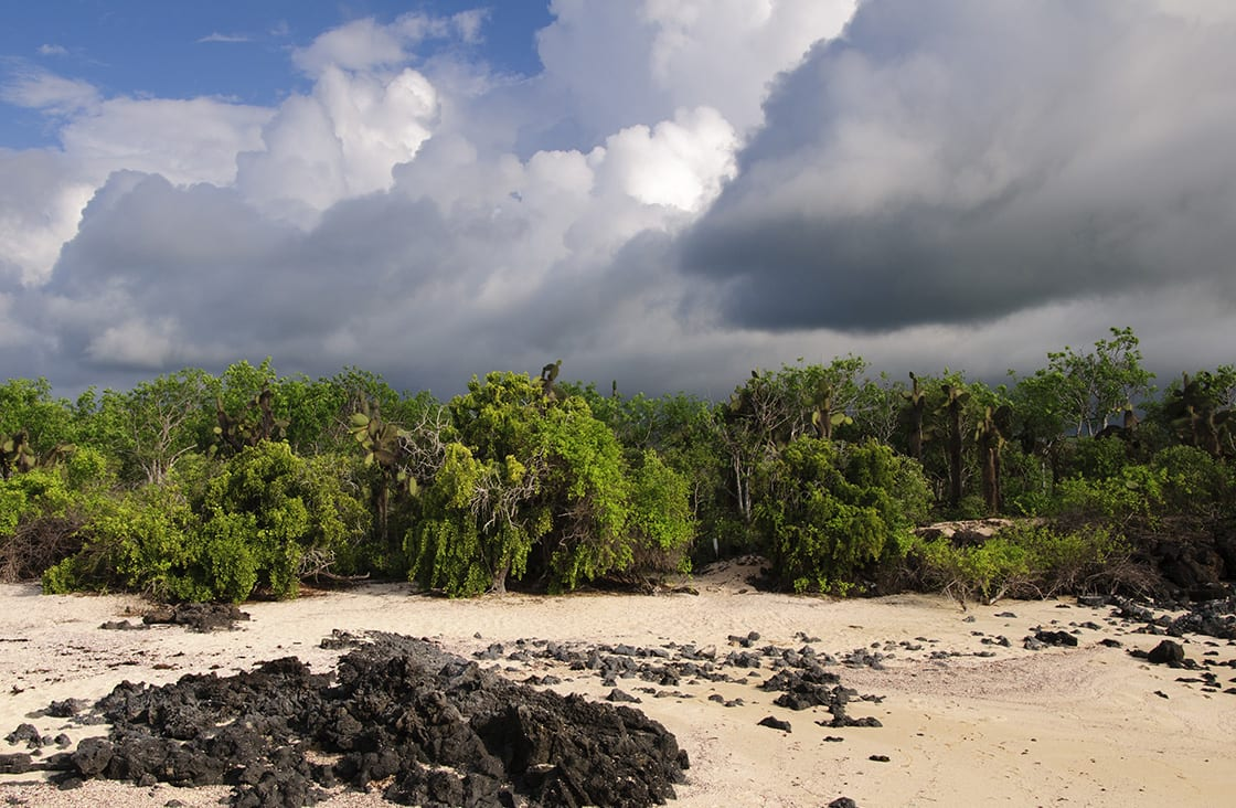 The,Sky,Darkens,As,A,Storm,Covers,San,Cristobal,Island,