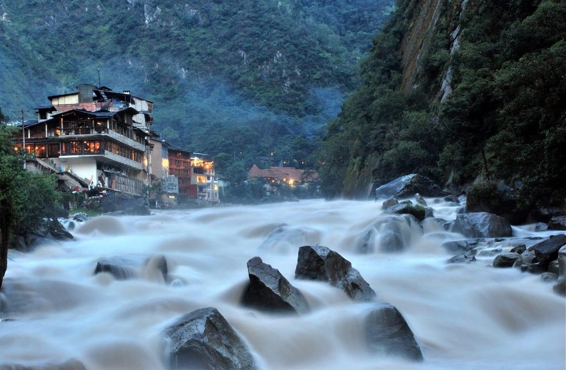 Aguas Calientes In Machu Picchu Peru