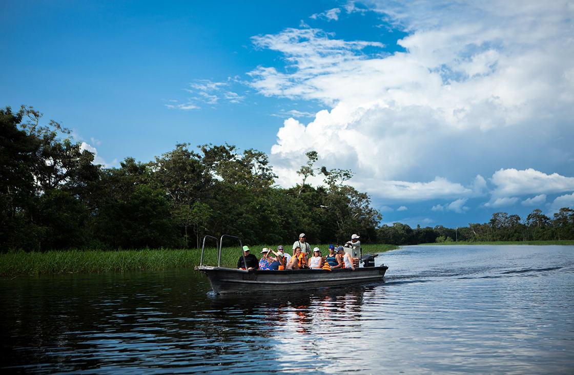 Skiff Ride with Guide in The Pacaya Samiria Reserve, Peru