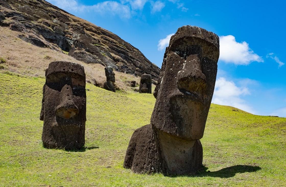 Moai Statues At Rapa Nui National Park