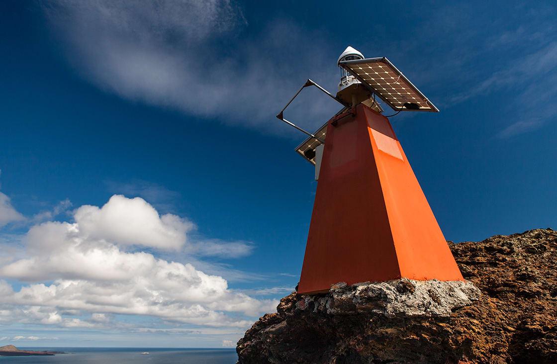 Colorful Lighthouse On Bartolome Island