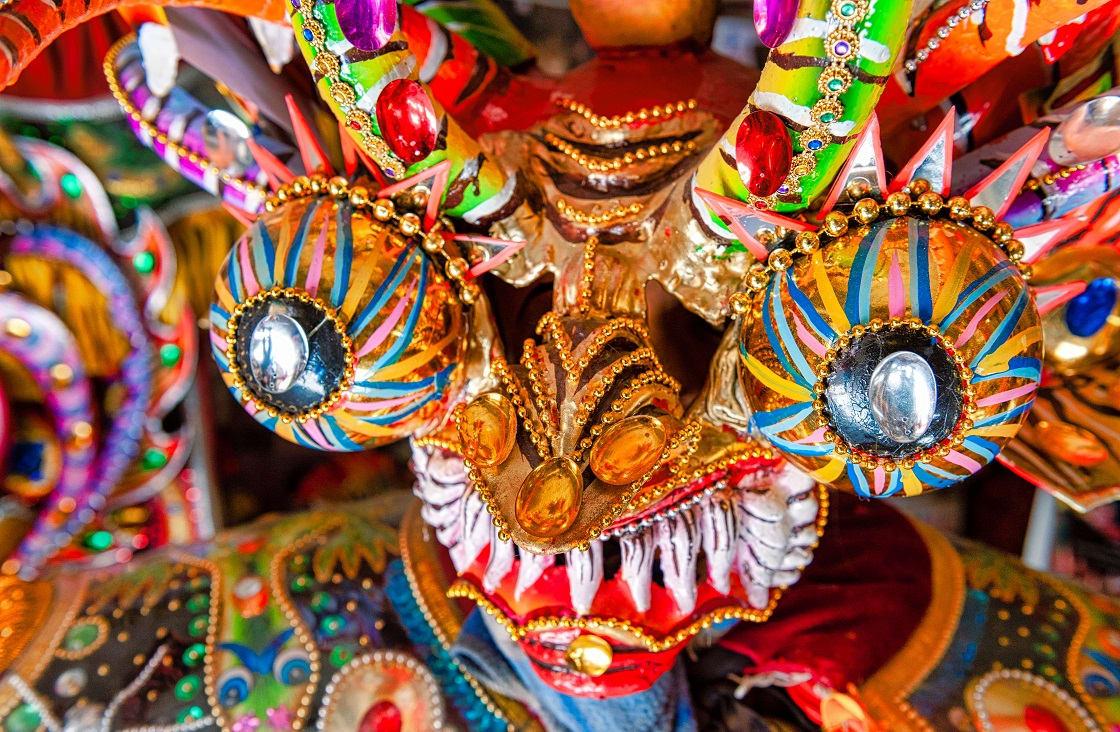 Devil Mask Used At Oruro Festival