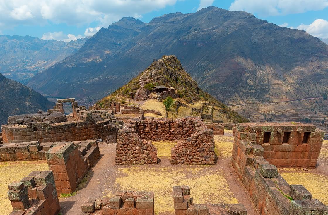 Sun Temple At The Inca Ruins Of Pisac