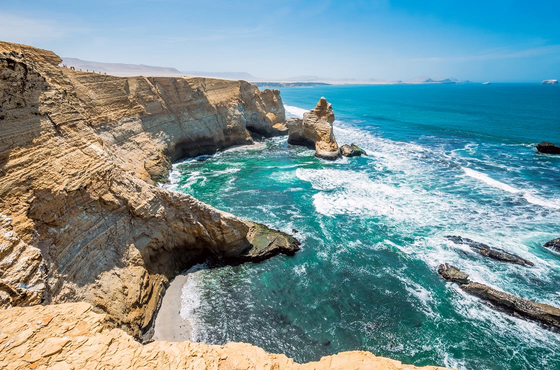 Cathedral Rock Formation In Paracas Natural Reserve