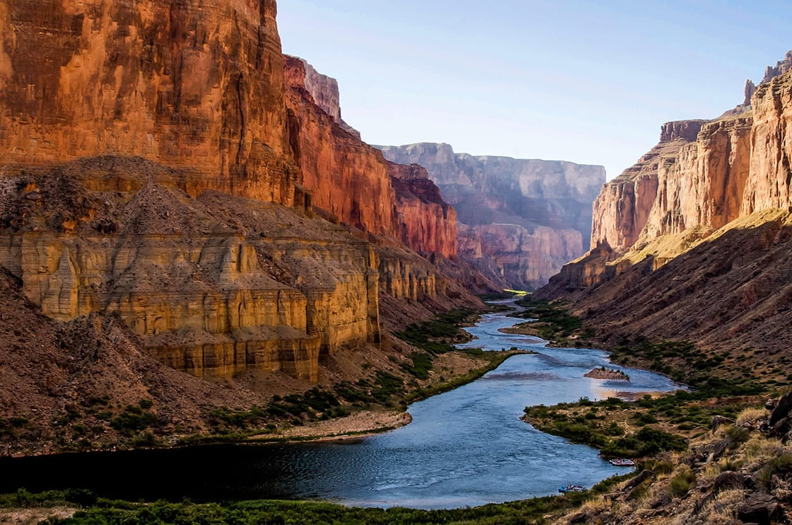 Colorado,River,From,Nankoweap,Granaries,In,Grand,Canyon
