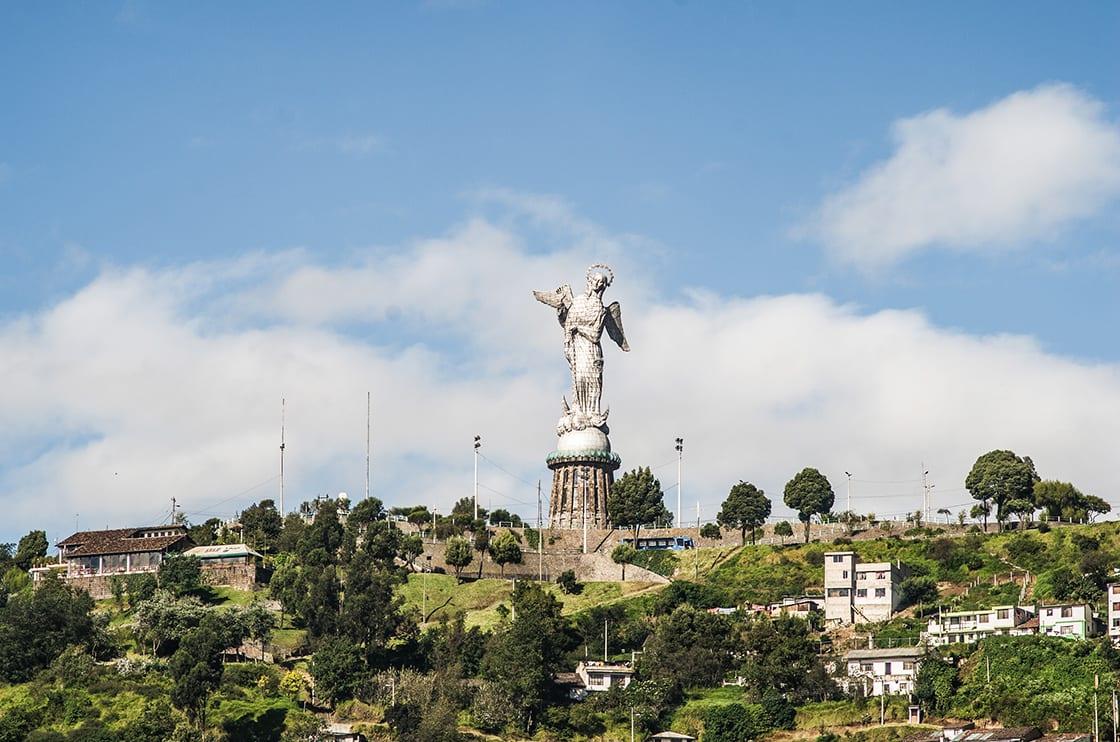 Sculpture Of The Virgin In Panecillo Hill in Quito - Ecuador