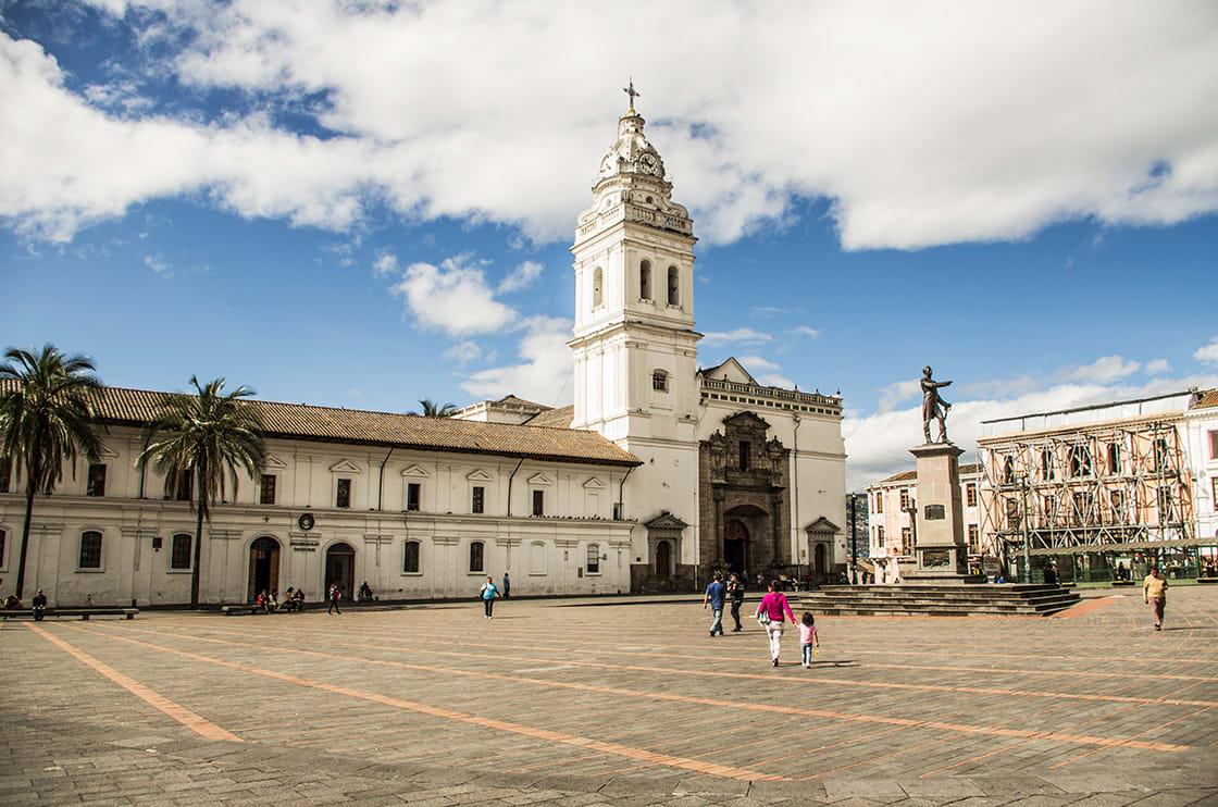 Plaza de Santo Domingo In Old Town Quito