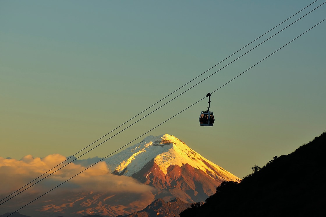 View Of The Cotopaxi Volcano From The Cable Car
