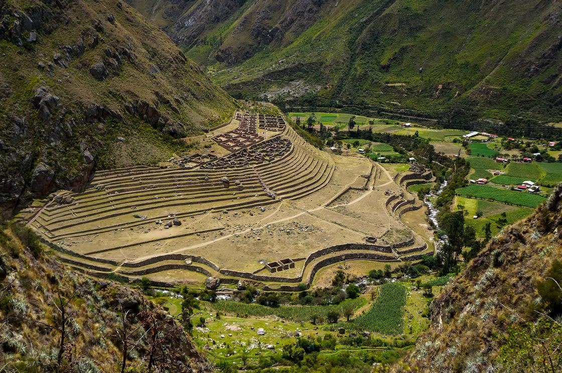 The Ruins Of Llactapata, On The Original Inca Trail