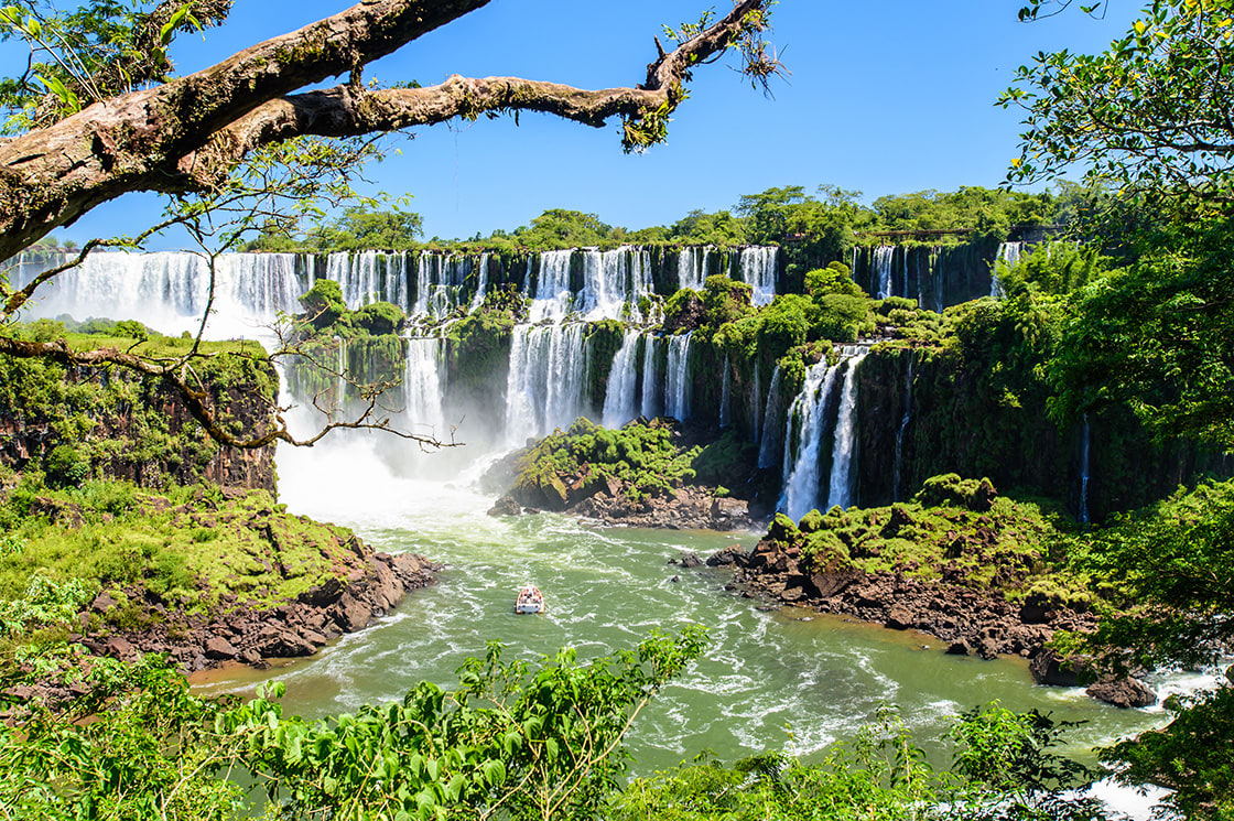 Iguazu,Falls,View,From,Argentina