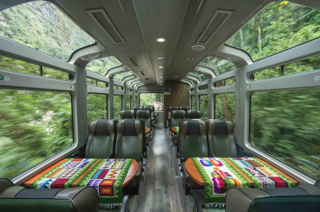 Interior Of The Vistadome, Panoramic Train To Pachu Picchu