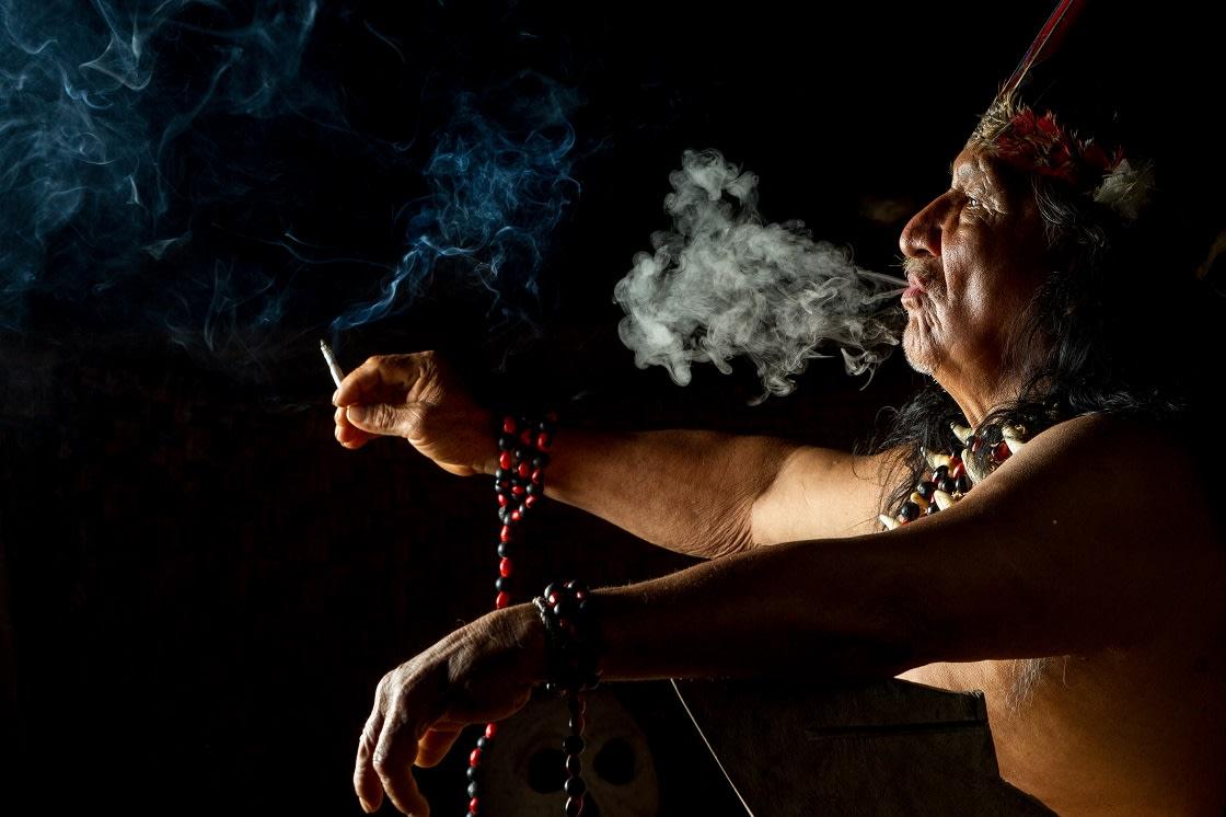Shaman,Ayahuasca,Ecuador,Old,Ceremony,Man,Tribal,Tribes,People,Amazon