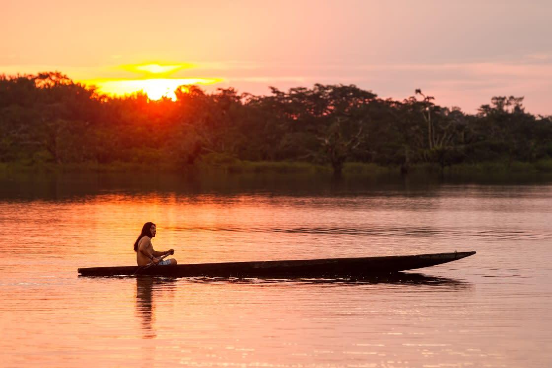 Ecuador Amazon People Tribe Indigenous Biodiversity Canoe Boat Cuyabeno Amazonia