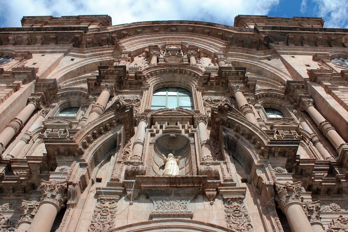 Part Of The Facade Of Cusco Cathedral