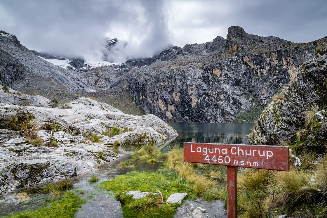 Hiking To The Snow Capped Peaks Of Laguna Churup