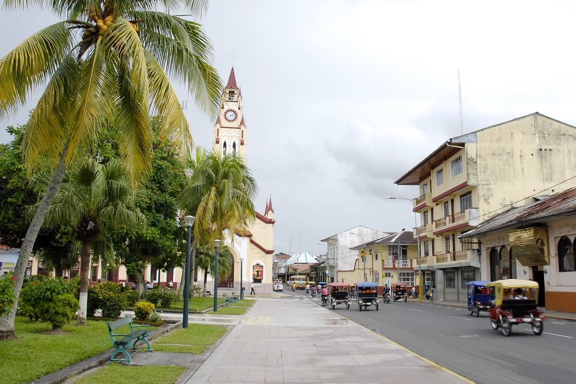 Street Near PLaza De Armas In Iquitos