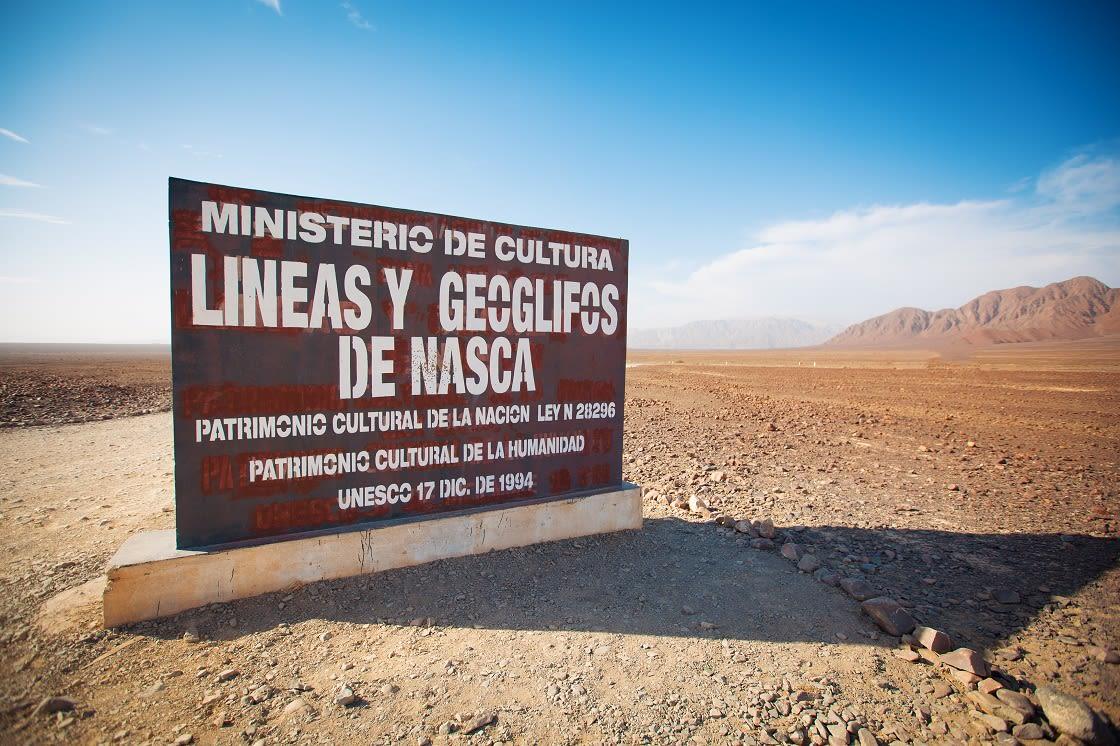 Nazca Lines In THe Beautiful Nazca Desert