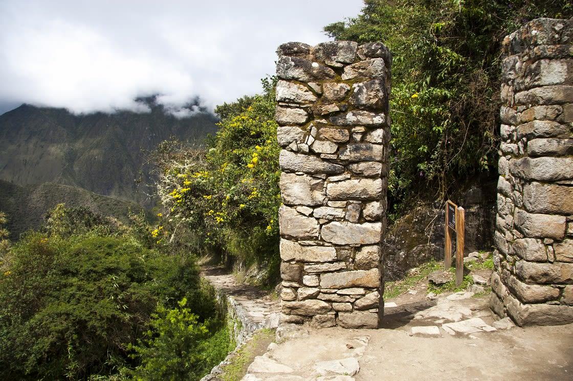 Inca Trail From The Inti Punku