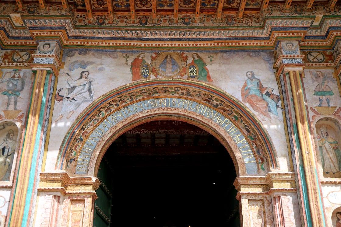 The Gorgeous Fresco Of The Main Porch San Pedro Apostol