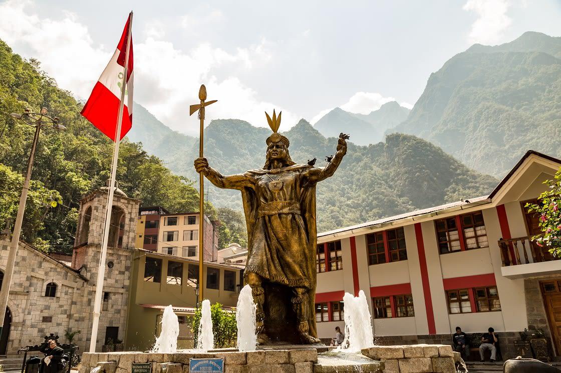 Statue Of Pachacuti In Aguas Calientes