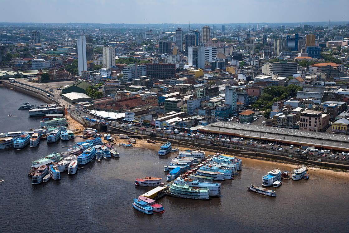 Aerial View of Manaus Port