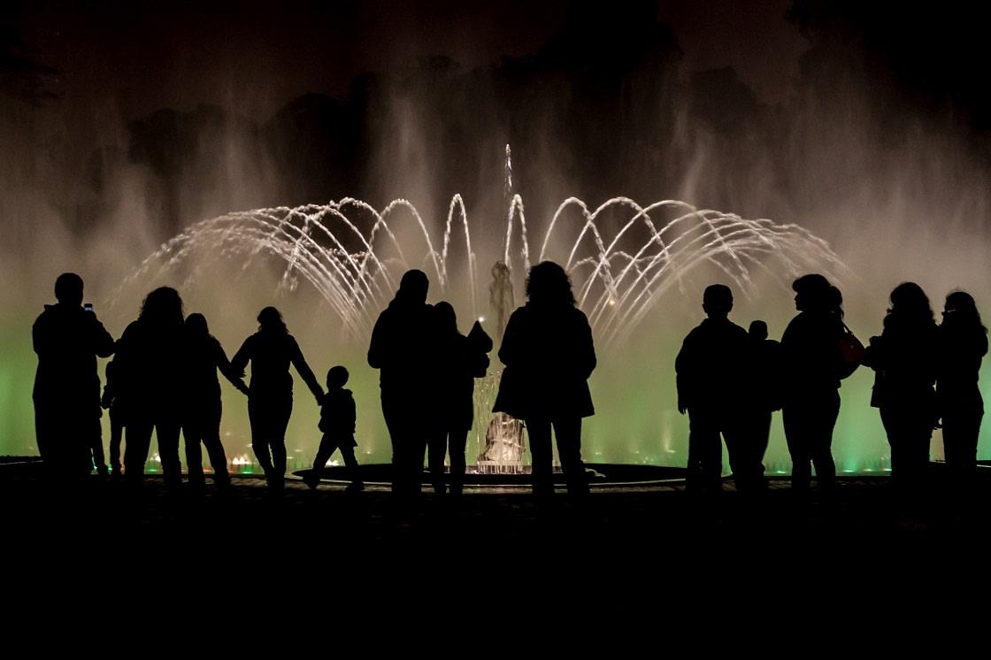 Tourists Visiting El Circuito Magico Del Agua, Lima - Peru