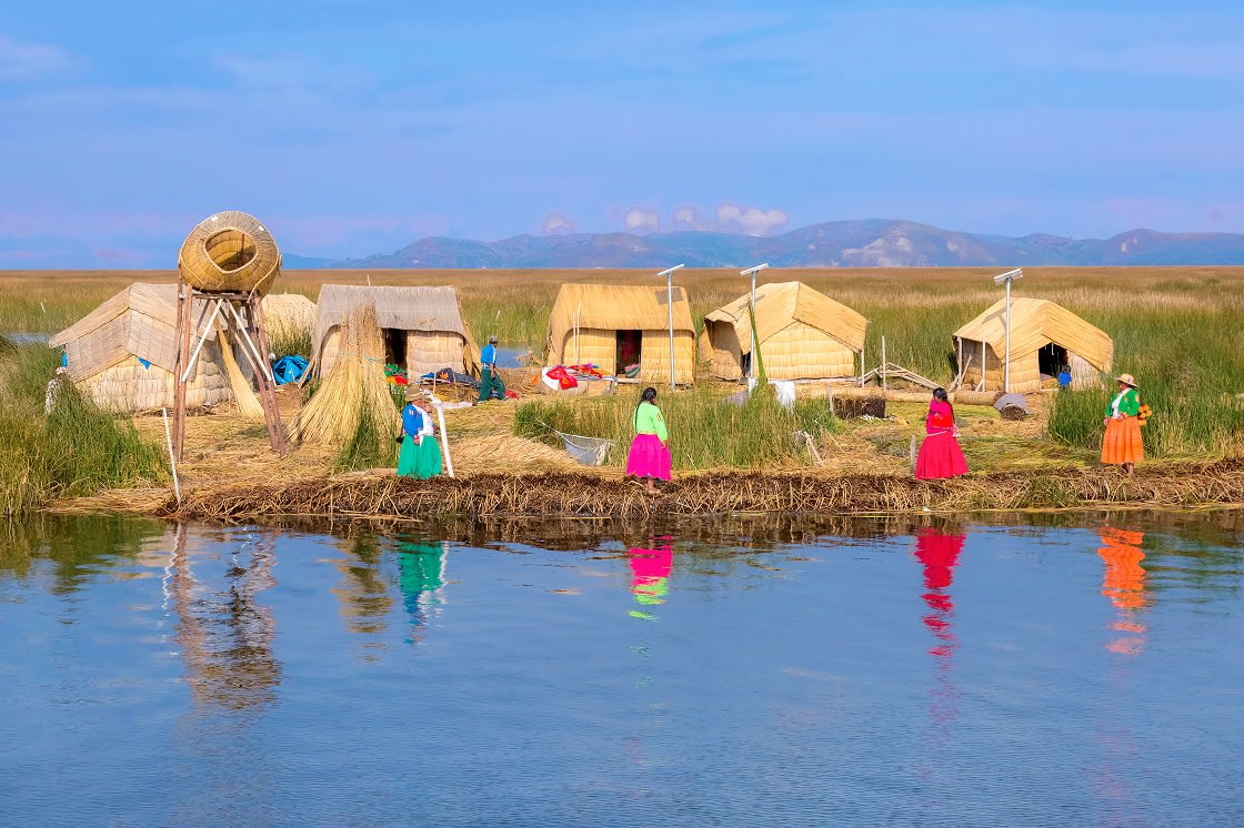 The Floating Islands Of Uros On Lake Titicaca