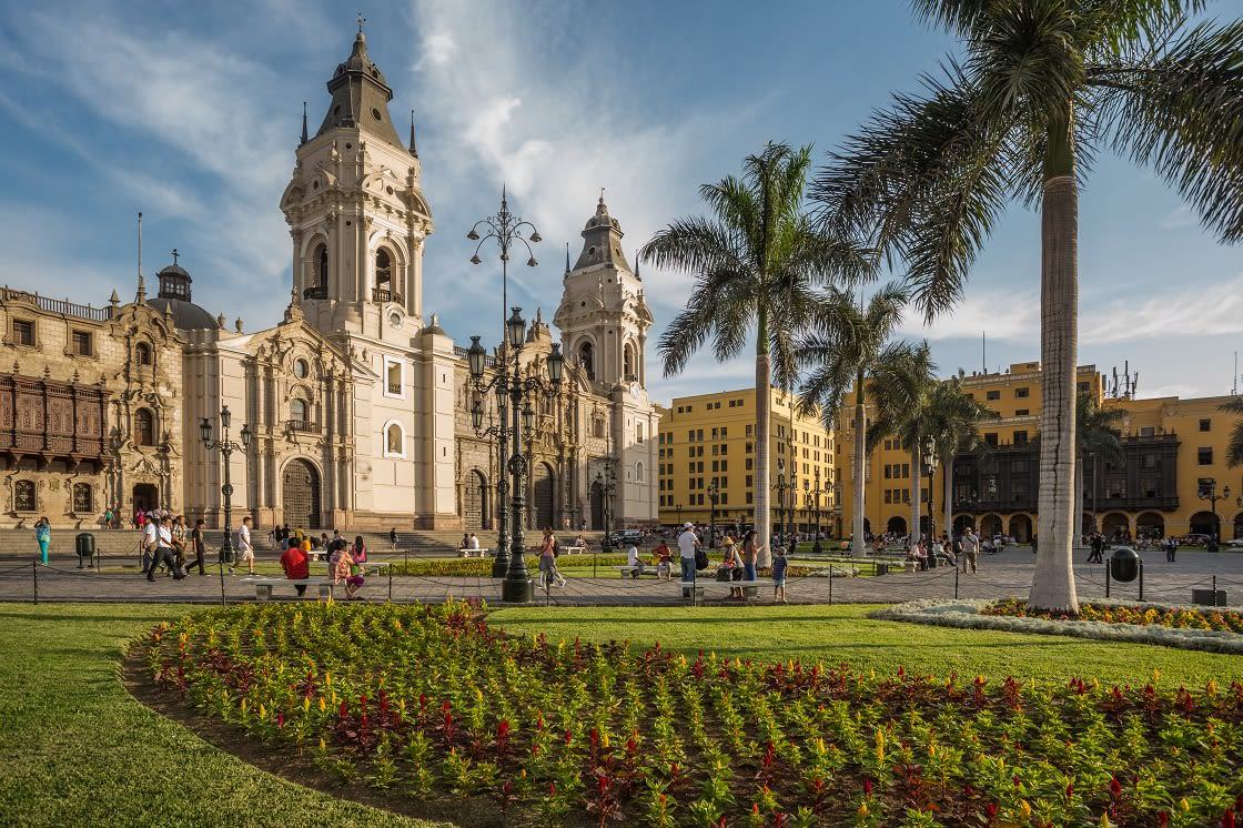 View Of The Cathedral And Lima Main Square