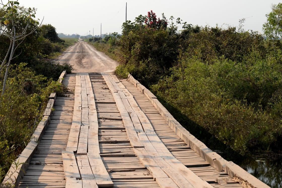 One Of Many Bridges Along The Transpantaneira Highway