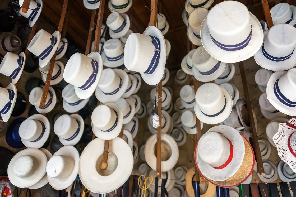 Traditional Hats For Sale In Cuenca Ecuador
