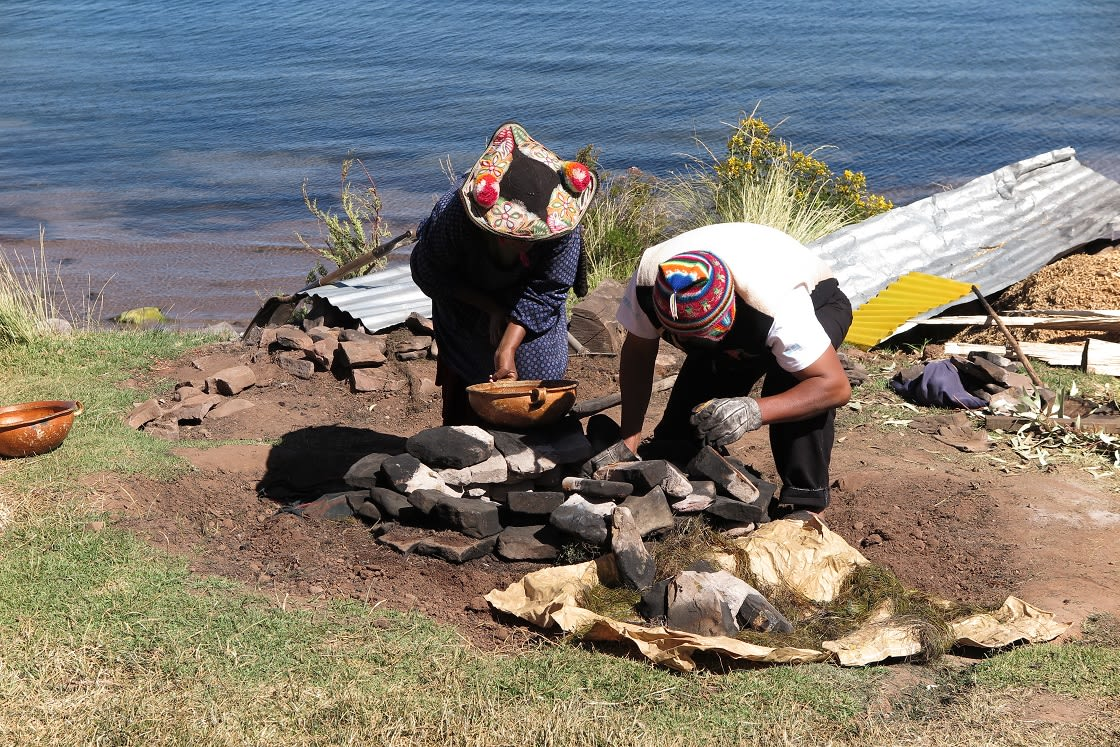 Cooking Underground, Is Also A Tradition On Lake Titicaca