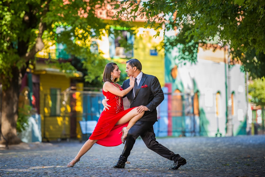 Couple Dancing Tango In Buenos Aires